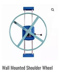 Shoulder wheel exerciser